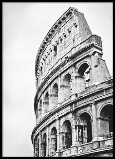 Black and white poster with a photo of the Coliseum in Rome. Take a look in the category Photo art for more similar posters. www.desenio.com