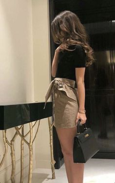 Mini Skirt Dress Ideas For Your Best Perfect Looking - Fashion Inspo - Best Of Women Outfits Looks Style, Looks Cool, Mini Skirt Dress, Mini Skirts, Mini Skirt Outfits, Mini Skirt Style, Mode Outfits, Fashion Outfits, Womens Fashion