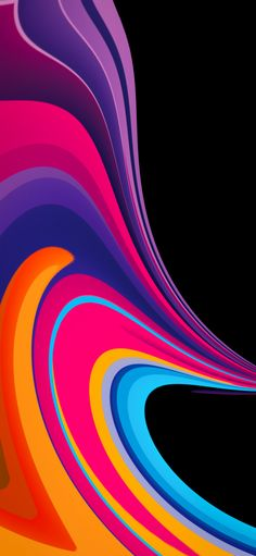 A great collection of original digital creations showcase vibrant swingling colors and hard contrasting edges in these iPhone wallpapers. Wallpaper Edge, Apple Wallpaper Iphone, Screen Wallpaper, Mobile Wallpaper, Wallpaper Backgrounds, Colorful Backgrounds, Iphone Wallpapers, Curves, Abstract Art