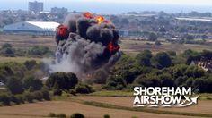 Shoreham Air Show, Sussex - Plane Crash