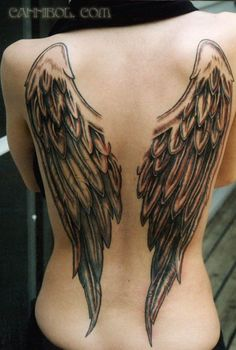 Angel wings tattoo on back - 100 Awesome Back Tattoo Ideas  <3 <3