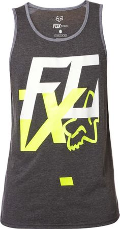 17df13f27 Fox Racing Head Over Heels Tech Tank Mens Motocross Sleeveless Shirt Tee  Gray