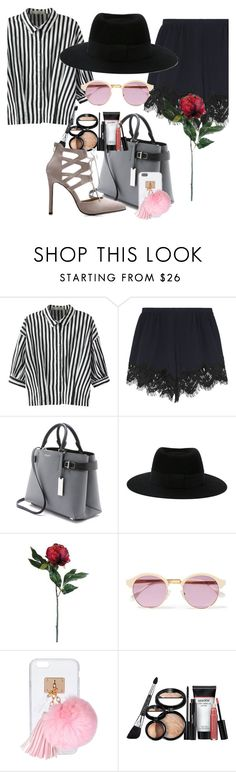 """""""Striped Shirts"""" by casualgiri ❤ liked on Polyvore featuring Relaxfeel, Chloé, Michael Kors, Maison Michel, Allstate Floral, Sheriff&Cherry and Ashlyn'd"""