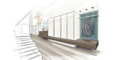 HAUS C | Mayr & Glatzl Innenarchitektur GmbH Loft House, Uni, Interiors, Drawings, Home Decor, Interior Architecture Drawing, Attic Rooms, Sketches, Drawing S