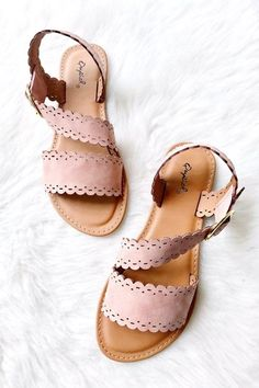 #sandals #blush #summer Summer Shoes, Summer Sandals, Simple Sandals, Summer Outfit, Crazy Shoes, Me Too Shoes, Cute Shoes, Pink Sandals, Flat Sandals