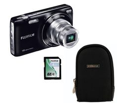 Die JZ250 wird hier mit der Kameratasche Mangoh 2 und einer 4 GB-Speicherkarte geliefert. Scharfe Bilder bei schlechten Lichtverhältnissen werden durch die ISO 3200 Lichtempfindlichkeit möglich gemacht.