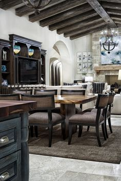 Mediterranean Home Kitchen Island Design, Pictures, Remodel, Decor and Ideas - page 11