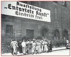 Exposition Entartete Kunst en 1937.