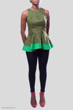 Visit the post for more. African Design, Hemline, Trends, Green, Tops, Style, Fashion, Swag, Moda