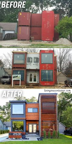 Building A Container Home, Container Cabin, Container Buildings, Container Architecture, Container Design, Architecture Design, Small House Design, Modern House Design, Shipping Container Home Designs