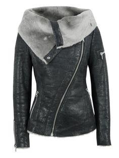 I love this jacket!!! Arnelle Black Leather Biker Jacket