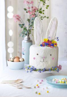 DIY food: un gâteau en forme de lapin pour Pâques