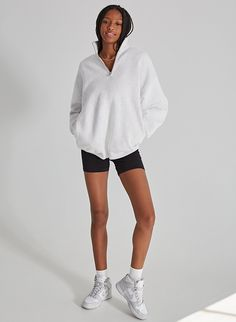 Boyfriend Sweater, Blouse And Skirt, Cool Hoodies, Zip Sweater, Cozy Sweaters, Summer Wardrobe, I Dress, Normcore, One Piece