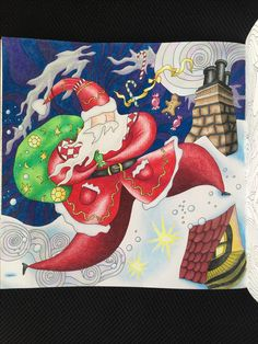 まほうのクリスマス、リジー・メアリ・カレン。 The Magical Christmas, Lizzie Mary Cullen. Prismacolor Scholar, white Posca. Christmas Colors, Christmas Ideas, Magic City, Magical Christmas, Posca, Coloring Book Pages, Adult Coloring, Mary, My Favorite Things