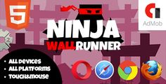 NinjaWallRunner . This is 2d plaform arcade where you need to jump over obstacles and earn points, game has nine backgrounds and one sound