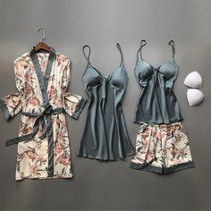 Satin Sleepwear, Satin Pajamas, Sleepwear Sets, Sleepwear Women, Nightwear, Womens Silk Pajamas, Pyjamas, Satin Nightie, Silk Nightgown