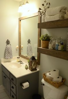 Modern Farmhouse Inspired Bathroom Makeover (One Room, One Month, $100 challenge reveal!)