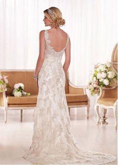 2015-New-White-Ivory-Lace-Wedding-Dress-Bridal-Gown-Custom-Size-6-8-10-12-14-16