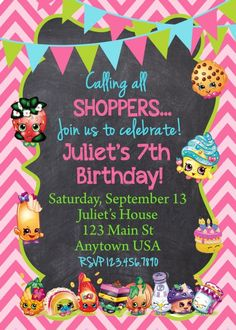 BIRTHDAY INVITATION - PRINTABLE Files can be designed in size 4x6 or 5x7  (WE CAN ALSO DO THE PRINTING FOR YOU! INVITATIONS WOULD BE $1.25 EACH SIZE 5X7 AND COME WITH FREE ENVELOPES) (just ask about h