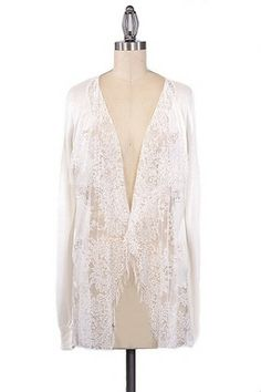 Lady of the Lace Cardigan - Ivory - $44.00 | Daily Chic Tops | International Shipping