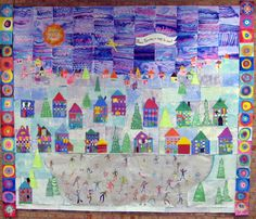 Winter Wonderland, group project? Each student design a house and a person...