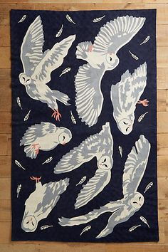Night Flight Rug - a