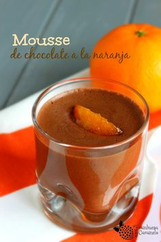 Frambuesa y Caramelo: Mousse de chocolate a la naranja