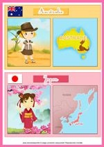Fiche éducative pour les enfants sur les pays Around The World Theme, World Thinking Day, World Crafts, Montessori Materials, Teaching French, Childhood Education, Colorful Pictures, Pre School, School Projects