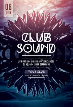 Club Sound Flyer by styleWish (Download PSD file)