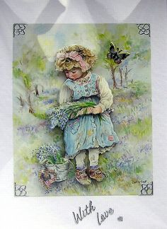 Woodland Stroll HandCrafted 3D Decoupage Card by SunnyCrystals #card #decoupage #birthday #girl #forrest #nature