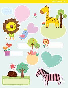 일러스트/팬시/귀여움/스티커/다양함/동물/사자/기린/나무/꽃/하트/풍선/태양/고슴도치/조류/화분/점선/사람없음/얼룩말/미소/열매/눈감기/묶기/파스텔/서기/들기/정면/측면/전신/라벨/ Diy And Crafts, Homeschool, Cute Animals, Kawaii, Kids Rugs, Stickers, Scrapbook, Paper, Illustration