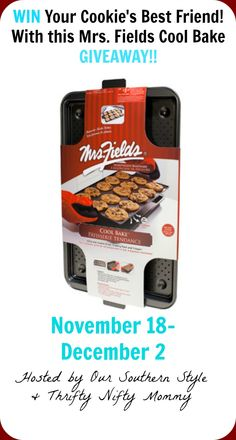 Add the Mrs. Fields Cool Bake cookie sheet to your baking tools and give your Christmas cookies the best friend they have been looking for!