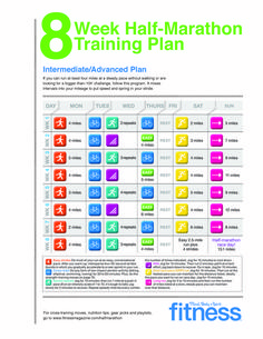 8-week Half Marathon Training Plan. Include those tempo runs!