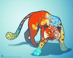 Summer Tiger by Mazzlebee