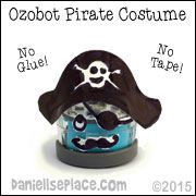Pirate Ozobot Costume - Prinatable Patterns on www.daniellesplace.com