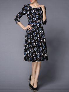 Floral-print Cotton-blend Midi Dress