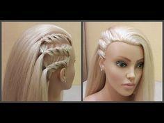 Легкая прическа для длинных средних волос.Делается очень легко самой себе.❤ - YouTube