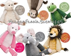 Stuffed animals for the kids that have an aromatherapy pouch!