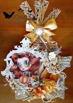 Perfect pumpkin Guest Designer MySheriCrafts copic tag Alicia Bel