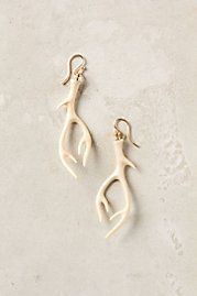 Stag antler earrings (very House Baratheon)