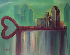 Key Print featuring the painting Unlock Love by Angela Smith. This reminds me of the saying the keys to the city.