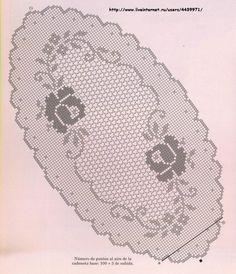 Foto: Servilletas redondas y ovaladas / Foto anfitrión . Crochet Square Patterns, Crochet Doily Patterns, Crochet Designs, Crochet Doilies, Crochet Stitches, Filet Crochet Charts, Crochet Cap, Easter Crochet, Hand Crochet