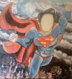 Superman photo opportunity board. Put face in hole and click!