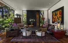 Open living area with a touch of vintage charm