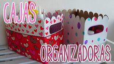 Organizador de cartón perfecto para guardar materiales.