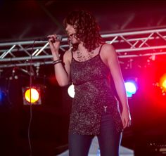 amazing singer beautiful sparkly blouse