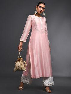Latest Partywear Kurti Designs - All About The Woman Pakistani Dress Design, Pakistani Dresses, Indian Dresses, Indian Outfits, Red Lehenga, Lehenga Choli, Salwar Kurta, Pink Suits Women, Indian Designer Suits