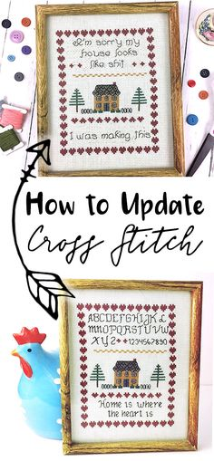 How to update and restitch an outdate cross stitch design.  Tips on how to chart and sew your new motifs, including the best FREE cross stitch charting software you can use