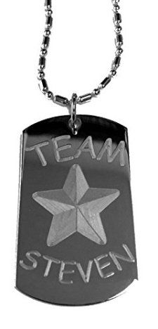 Team-Steven-Luggage-Metal-Chain-Necklace-Military-Dog-Tag