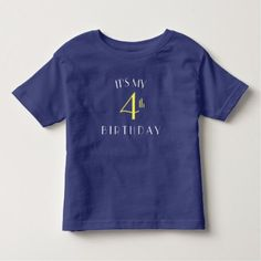 #I'ts my 4th birthday shirt - #birthday #gift #present #giftidea #idea #gifts